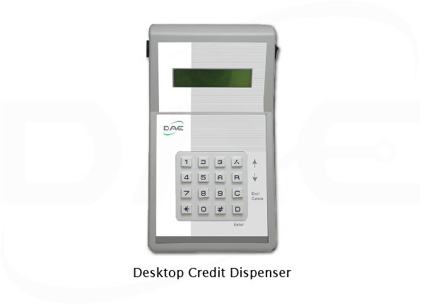 Desktop credit dispenser and receipt printer
