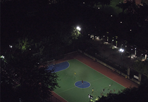 ball court night lighting